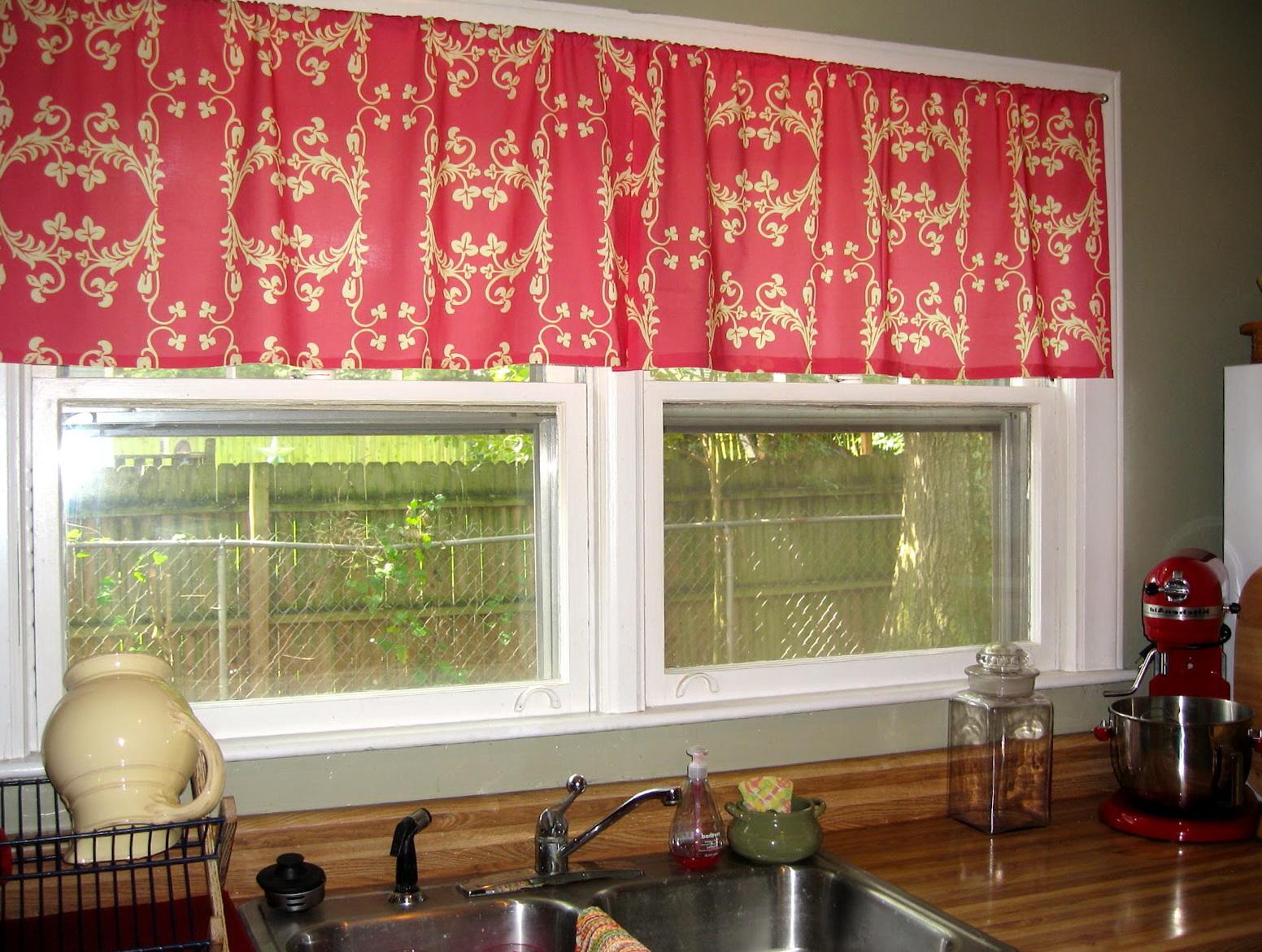 Modern Red Kitchen Curtains