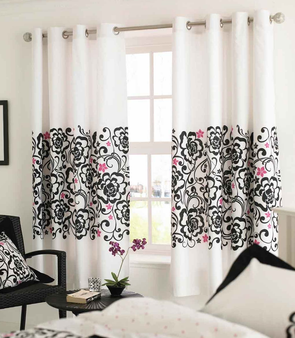 Modern White Window Curtains