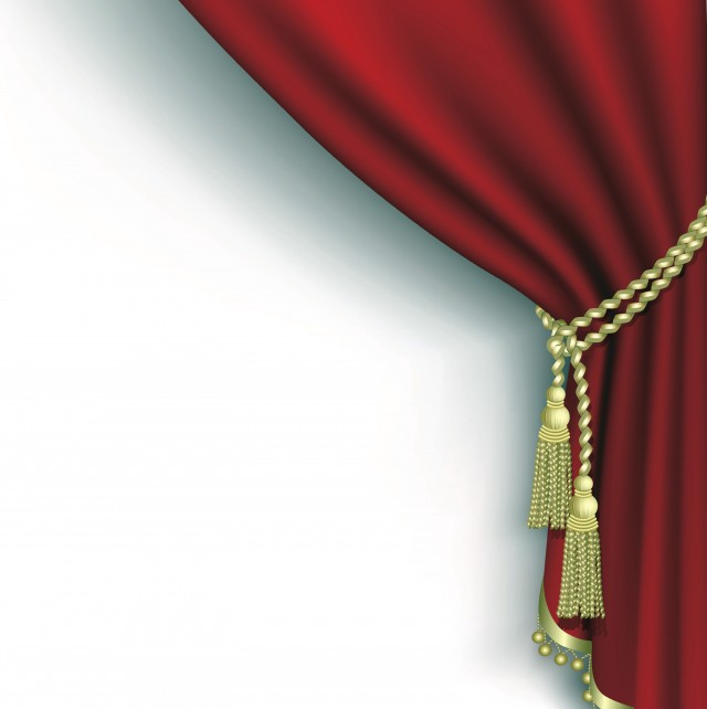 Movie Theater Curtains Vector