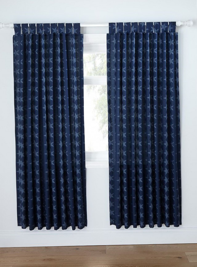 Navy Blue Blackout Curtains Uk