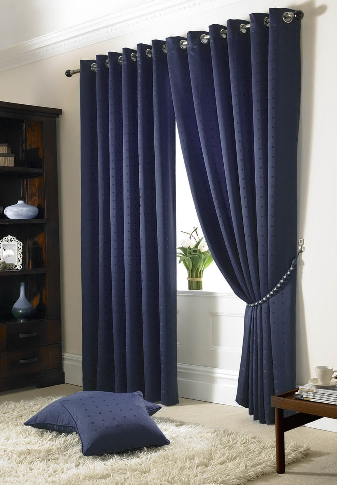 Navy Blue Blackout Curtains Walmart Home Design Ideas
