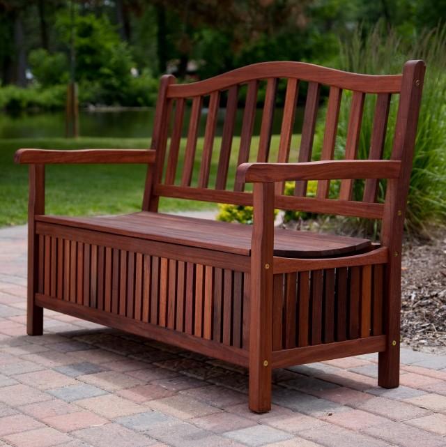 Outdoor Cushion Storage Bench