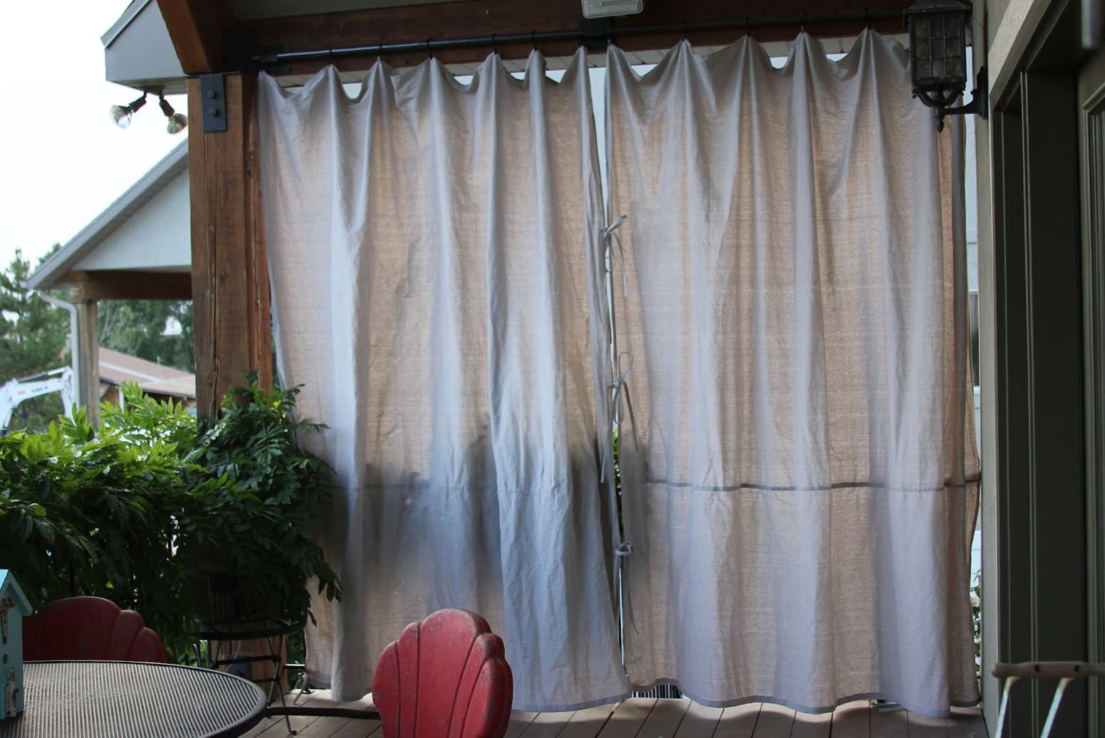Outdoor Privacy Curtains For Deck Home Design Ideas