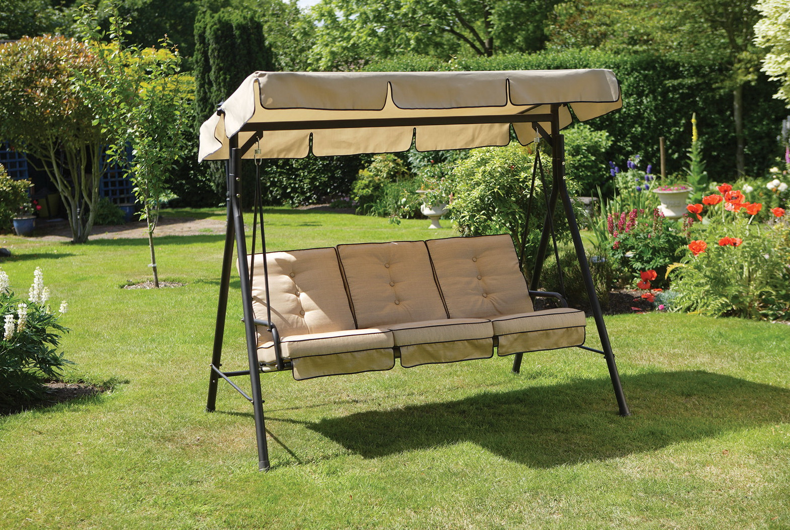 Outdoor Swing Cushions With Back Home Design Ideas