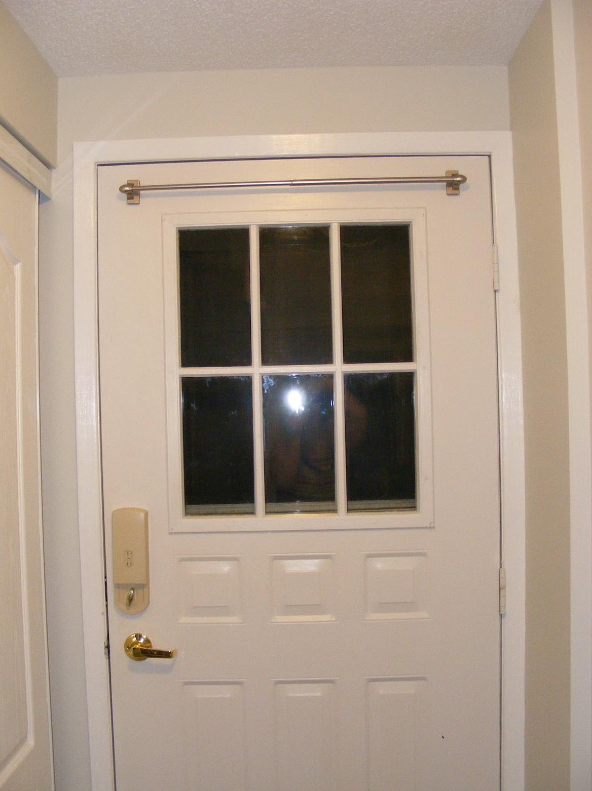 Over The Door Curtain Rod Home Design Ideas