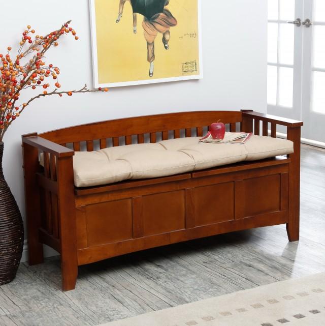 Patio Cushion Storage Bench