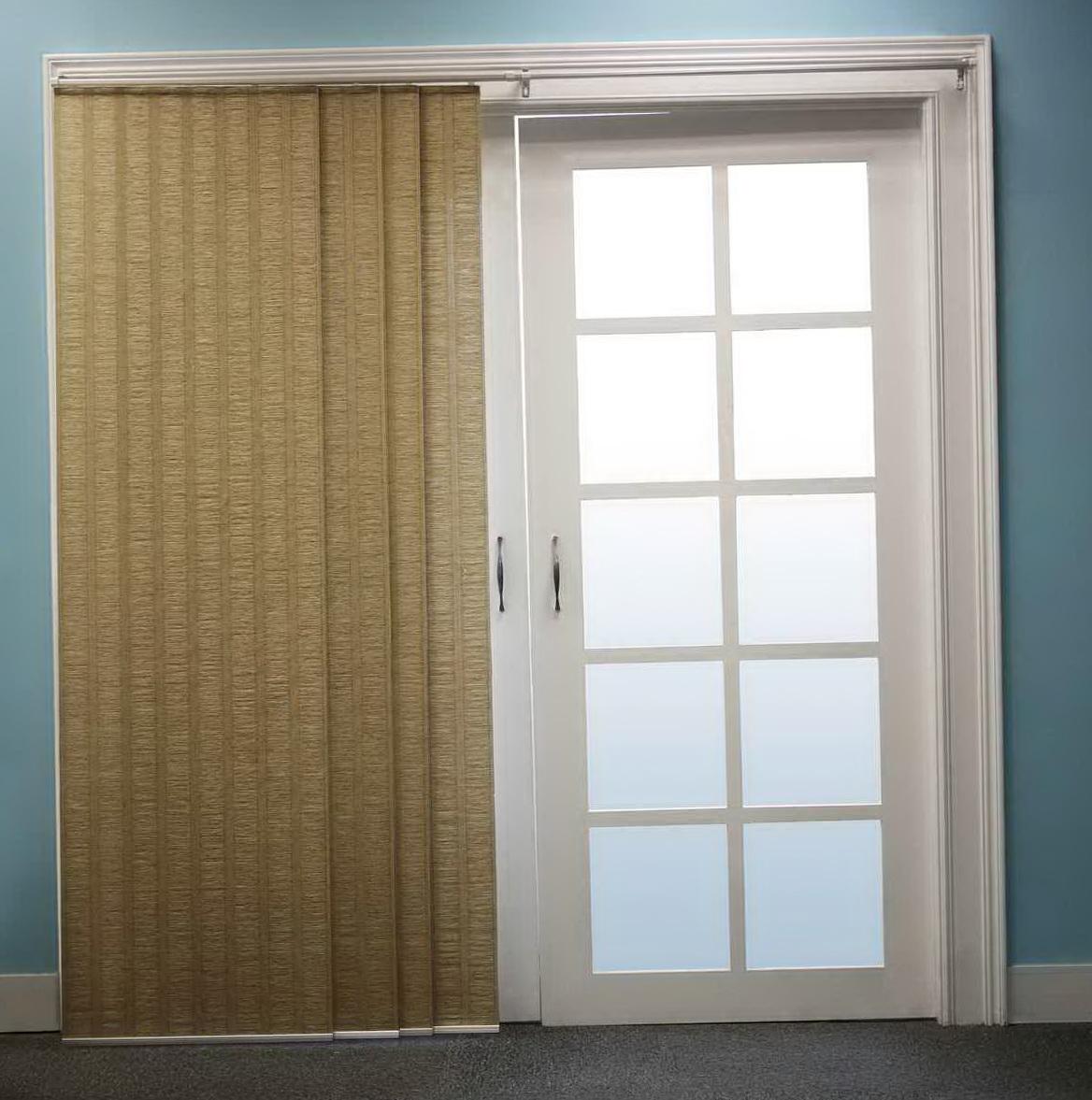 Patio door curtain rods home design ideas for Door curtains