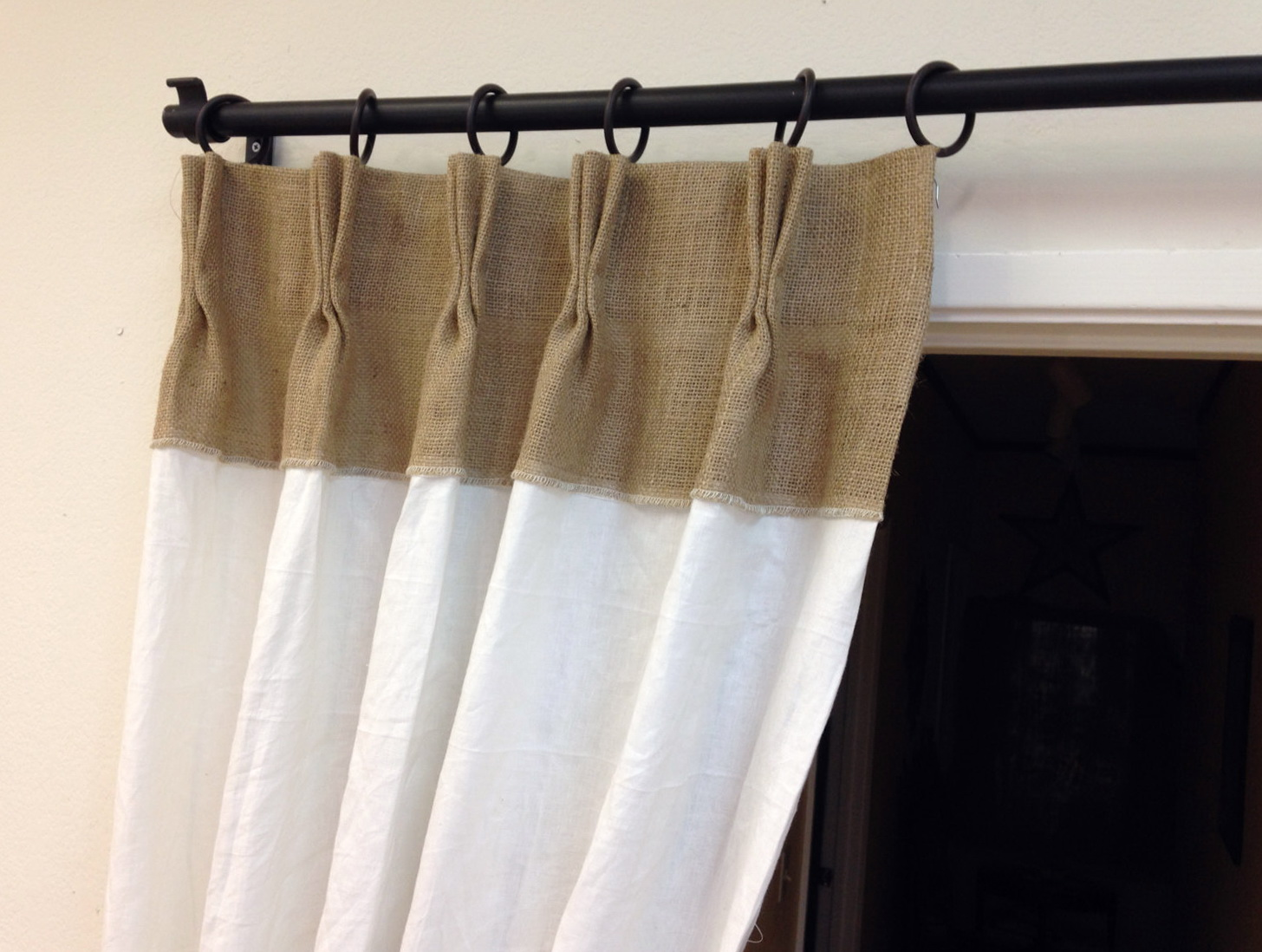 Pinch Pleated Burlap Curtains
