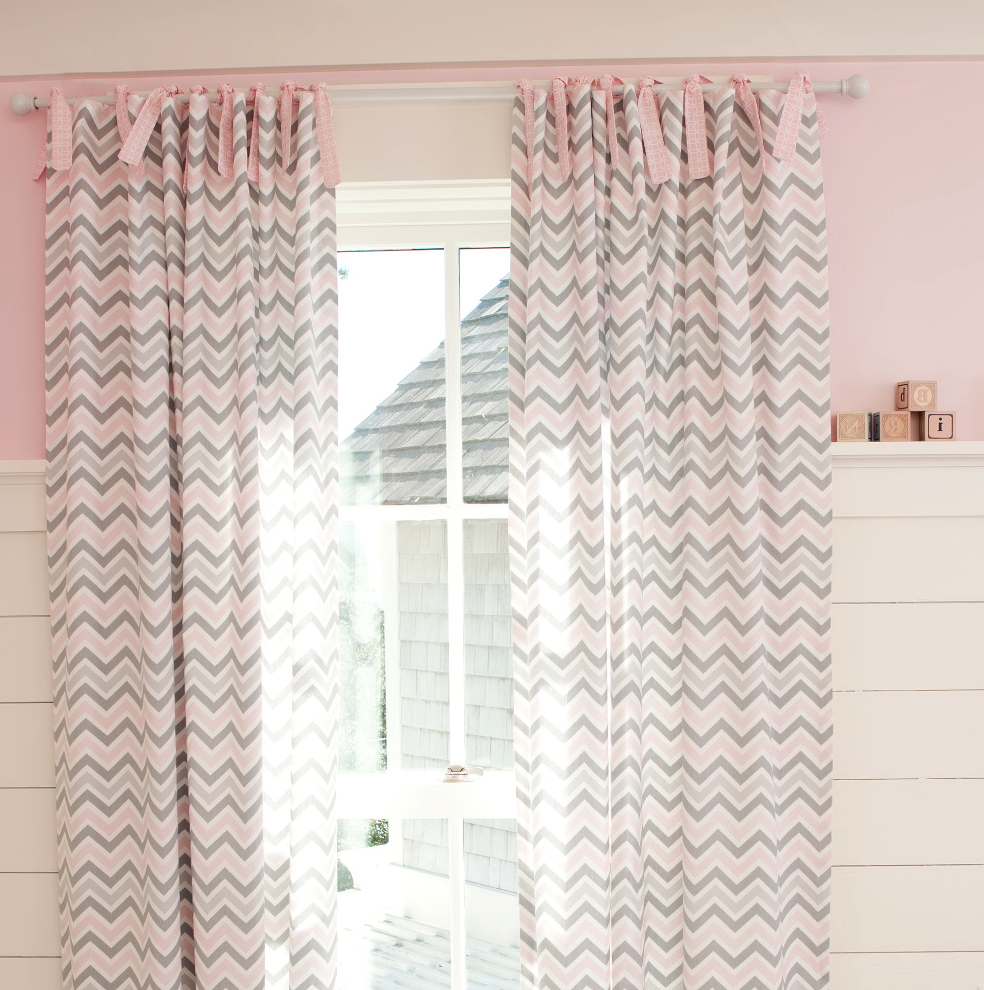 Pink And Gray Nursery Curtains Home Design Ideas