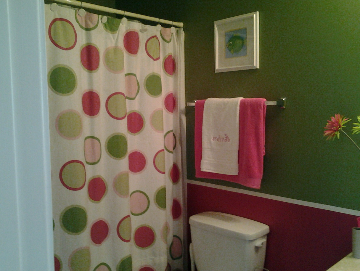 Pink And Green Shower Curtains | Home Design Ideas