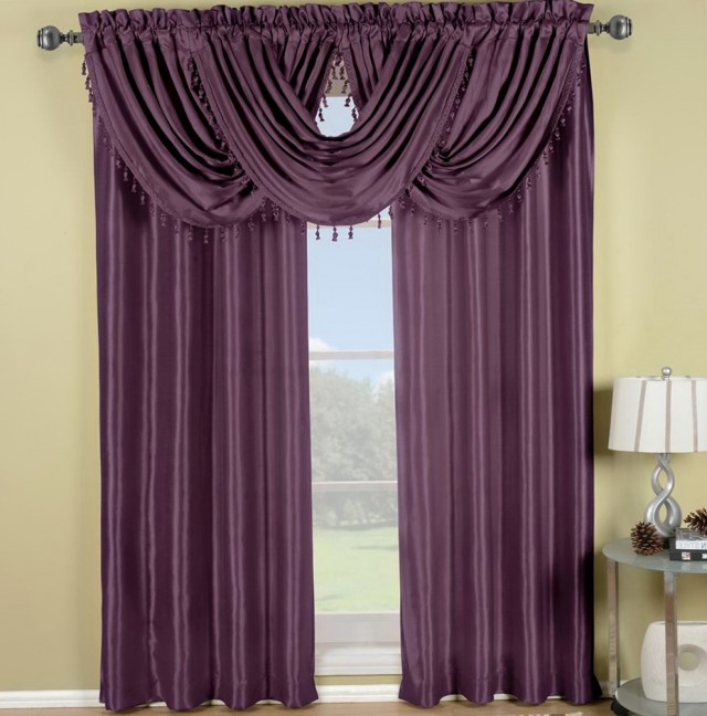 Purple Window Curtains Panels