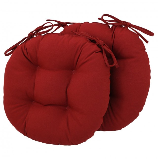 Round Seat Cushions With Ties