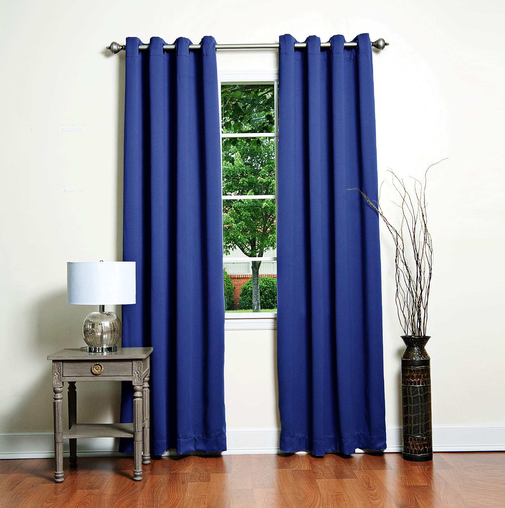 Royal Blue Blackout Curtains Home Design Ideas