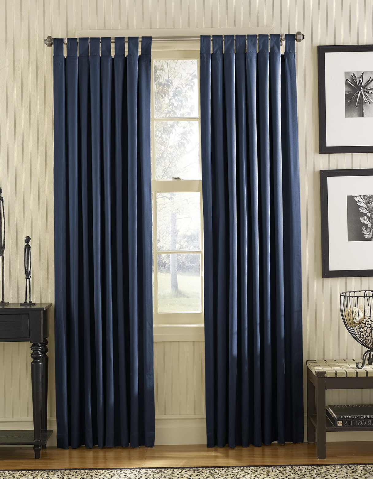 Royal Blue Window Curtains