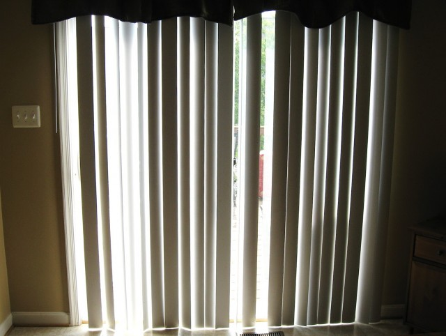 Sheer Curtains Over Vertical Blinds