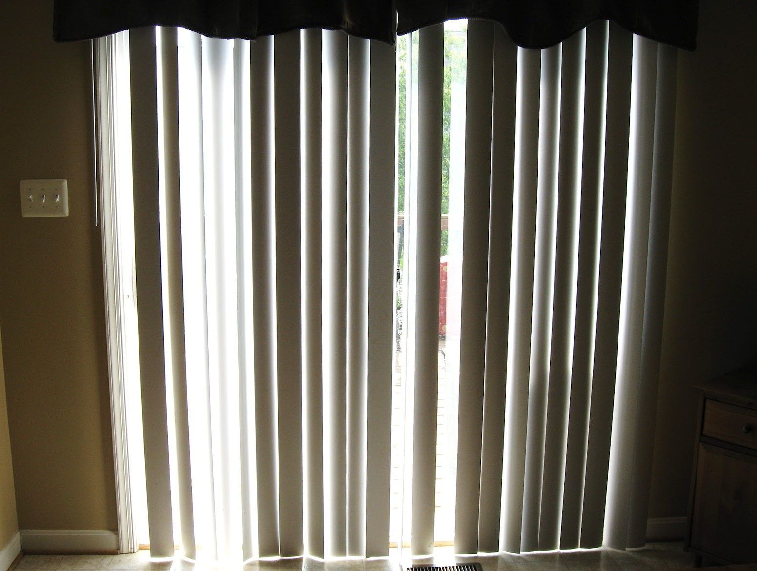 Sheer Curtains Over Vertical Blinds Home Design Ideas