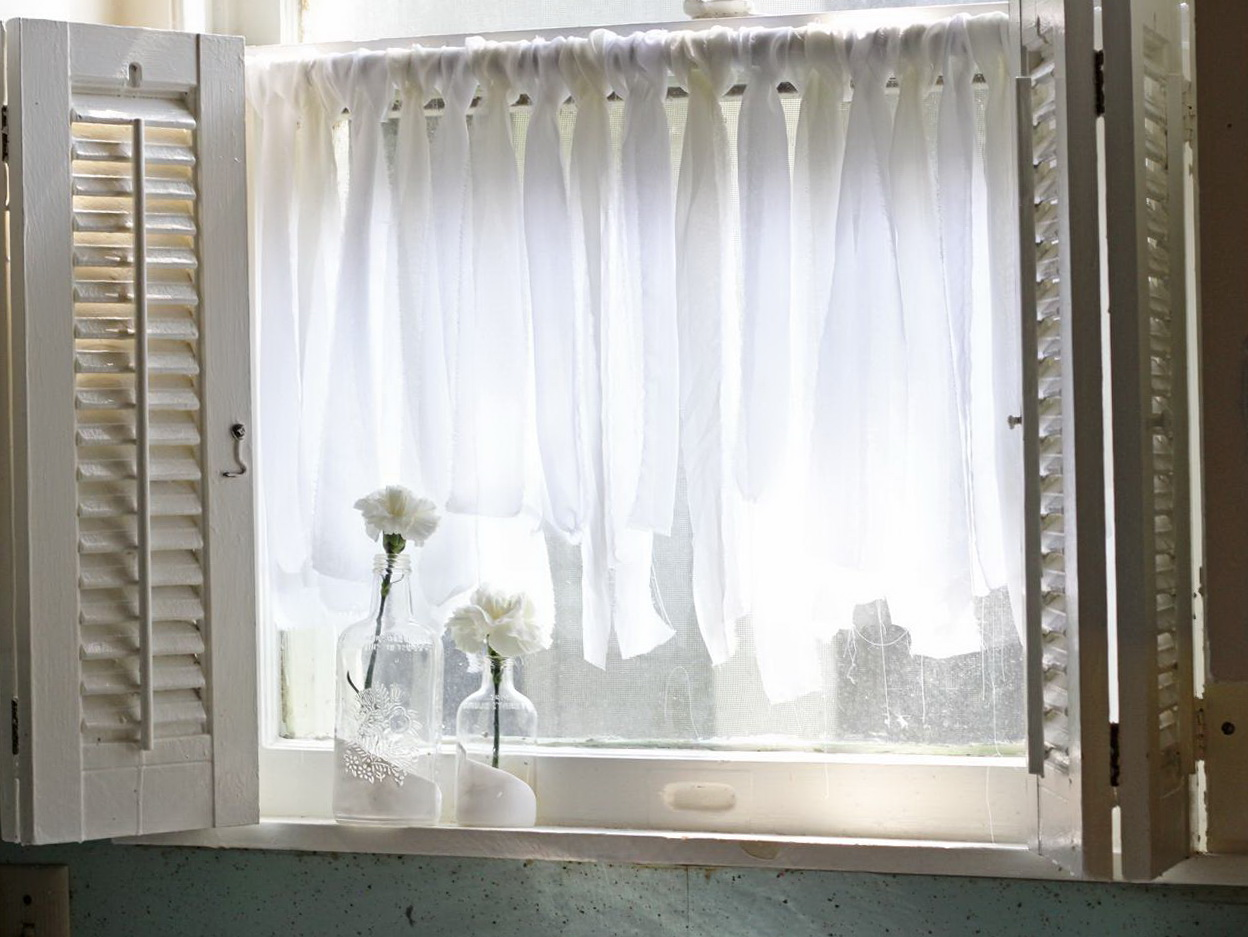 Sheer kitchen curtains valerie kitchen curtains white for Sheer panel curtain ideas