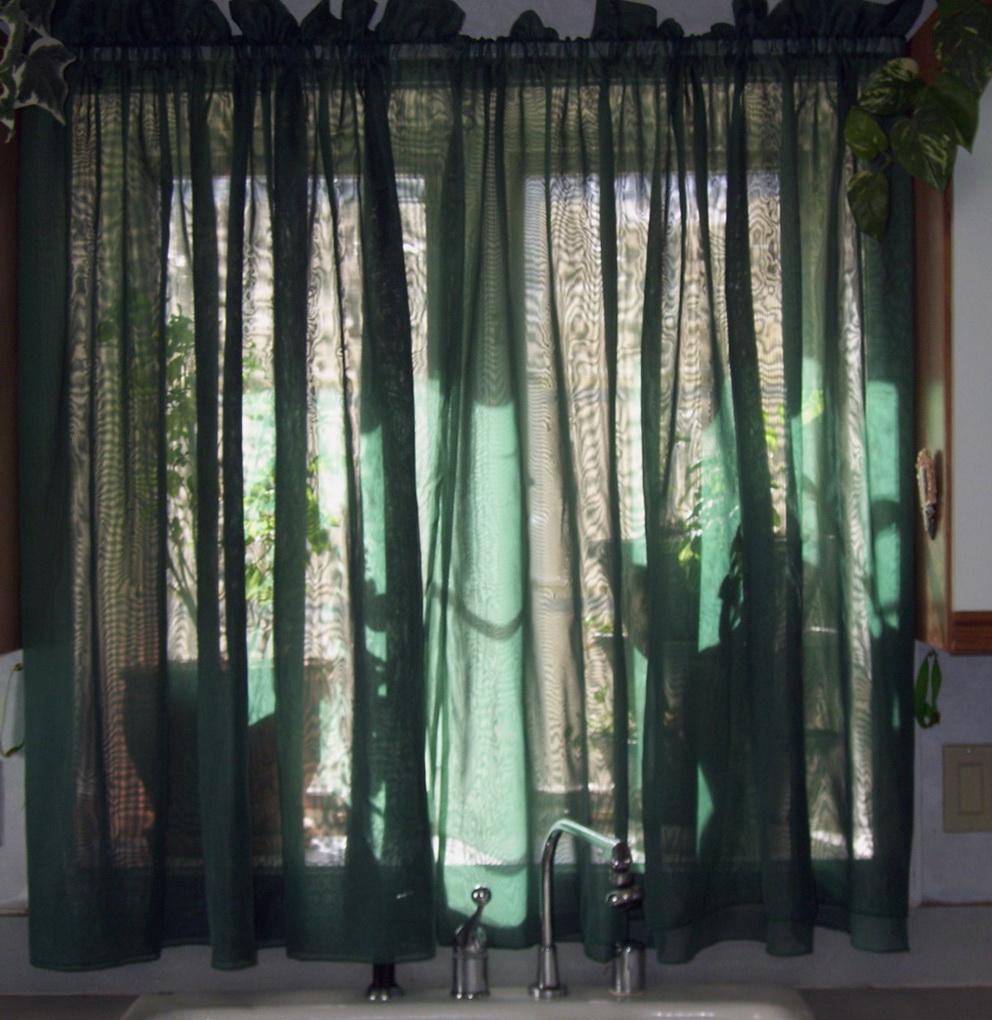 Sheer Kitchen Curtains Valances