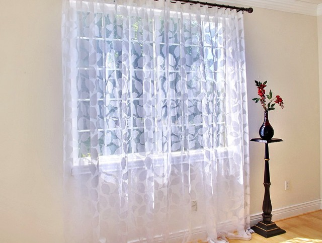 Sheer White Window Curtains