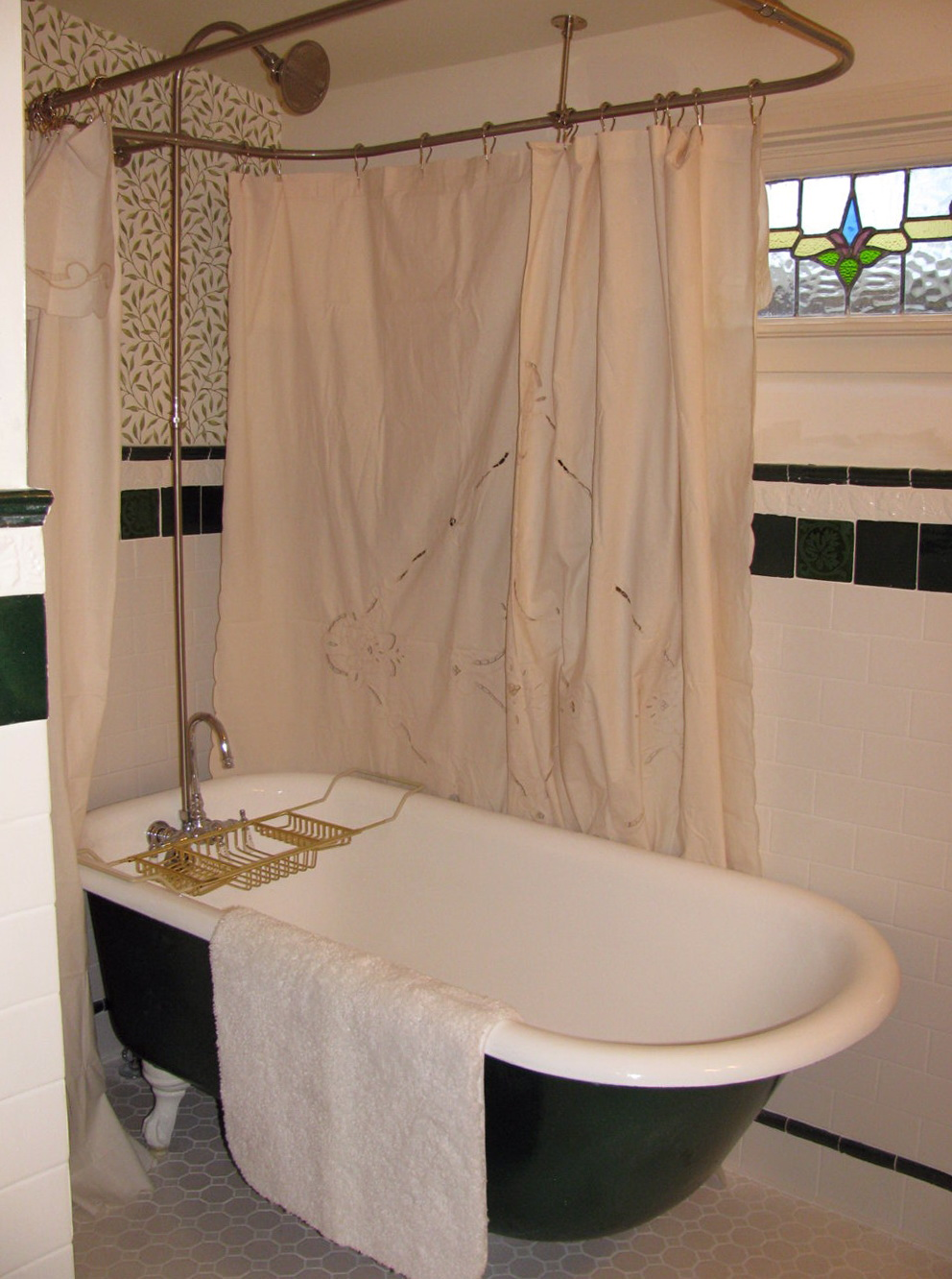 Charming Shower Curtain Size For Clawfoot Tub Images - Best Image ...
