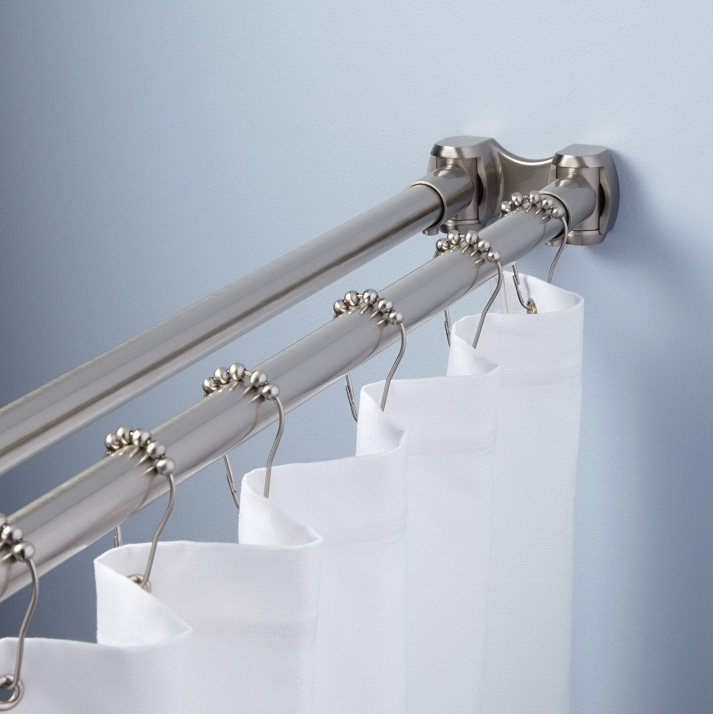 Shower Curtain Tension Rod Length