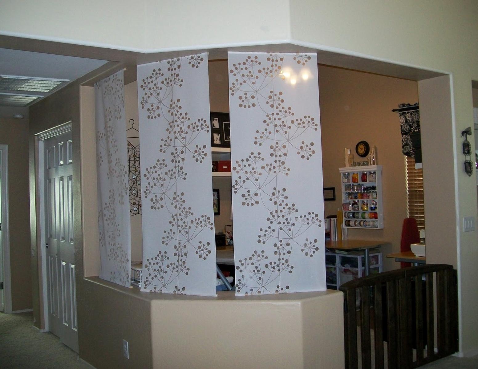 Sliding room divider panels