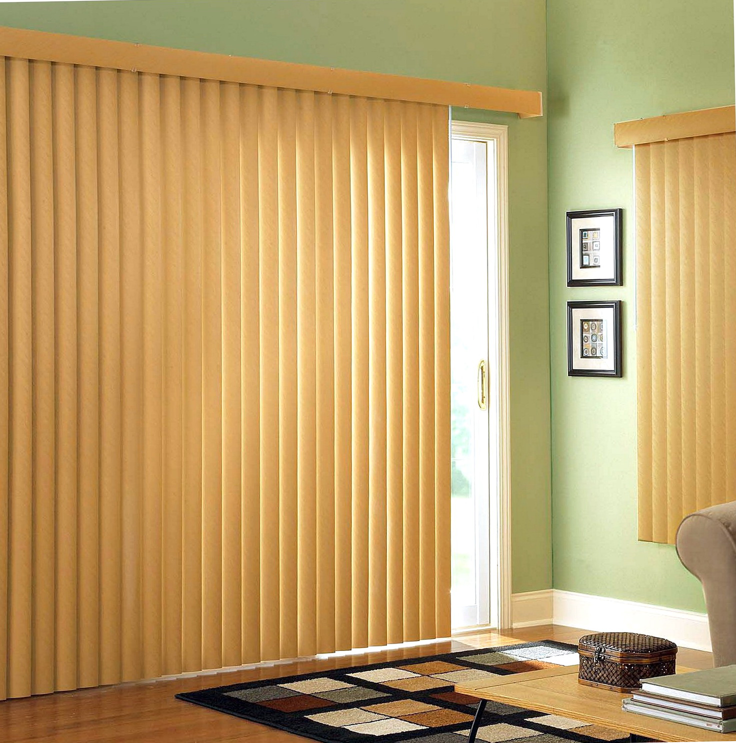 Sliding Patio Door Curtains Blinds