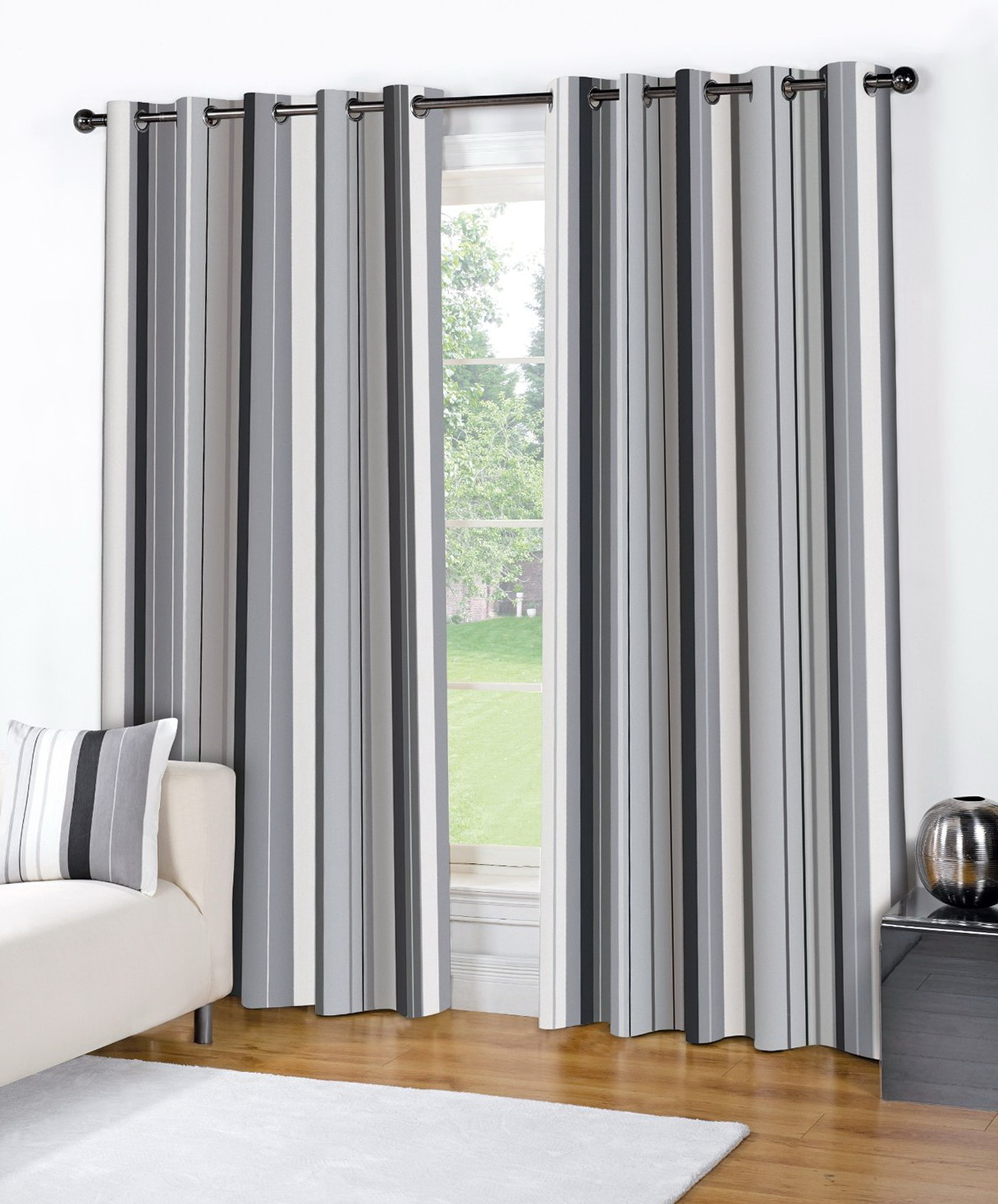 Striped Curtains Horizontal Or Vertical Home Design Ideas