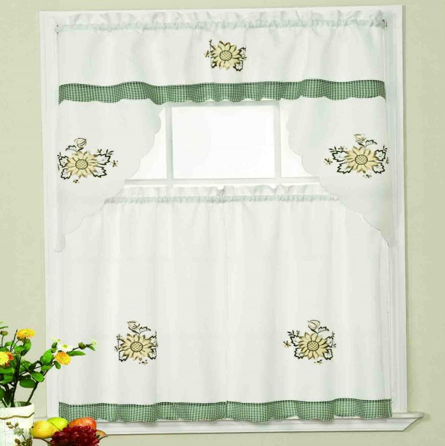 Sunflower Valance Kitchen Curtains