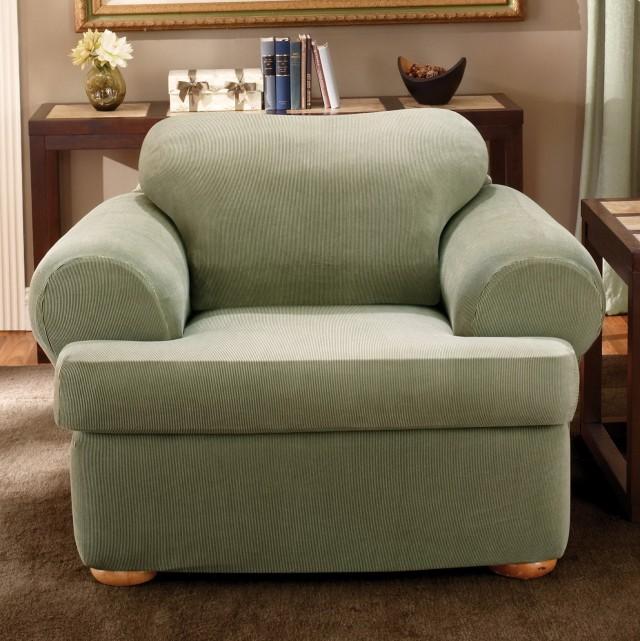T Cushion Chair Slipcover White