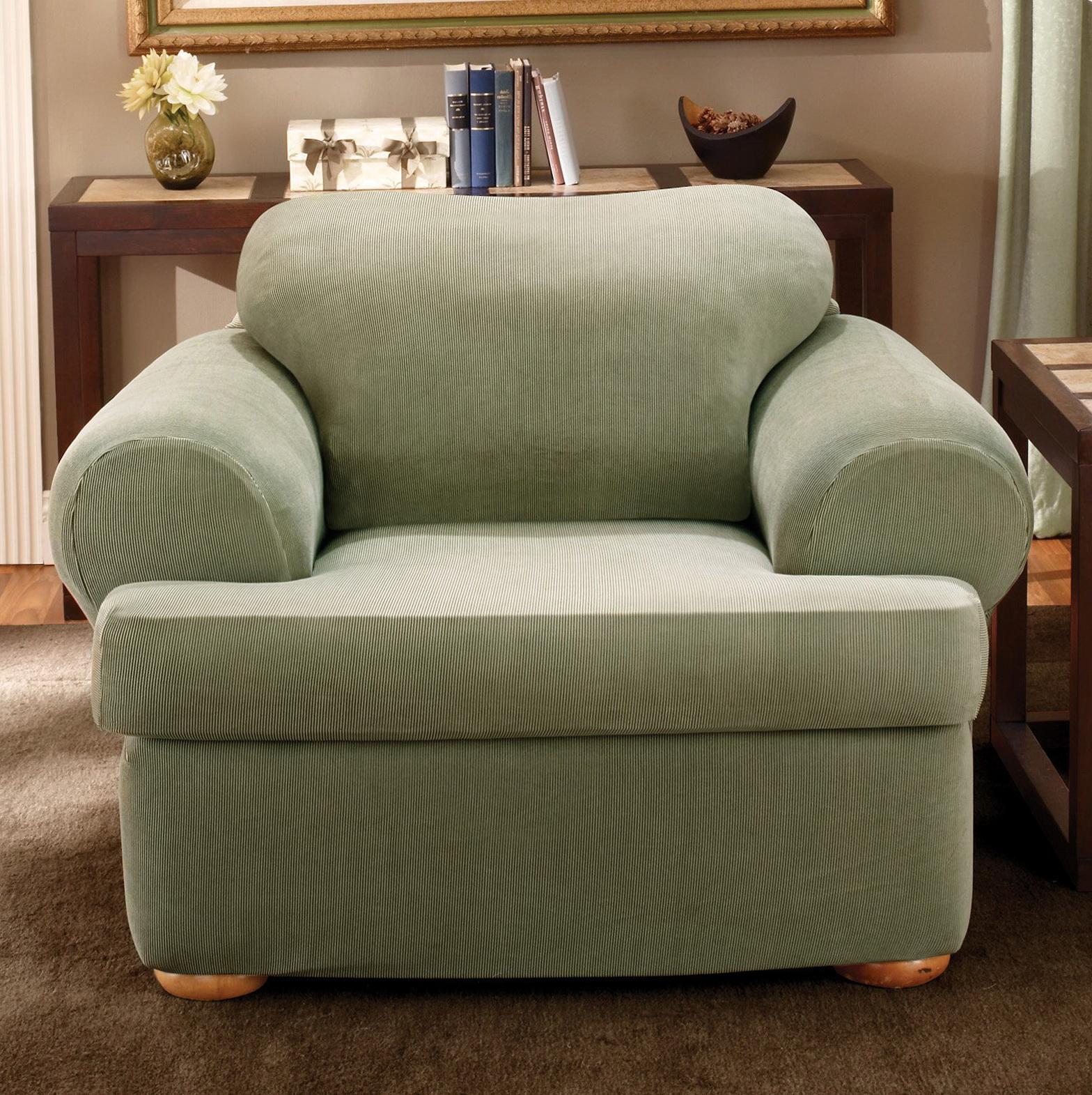 T Cushion Chair Slipcover White Home Design Ideas