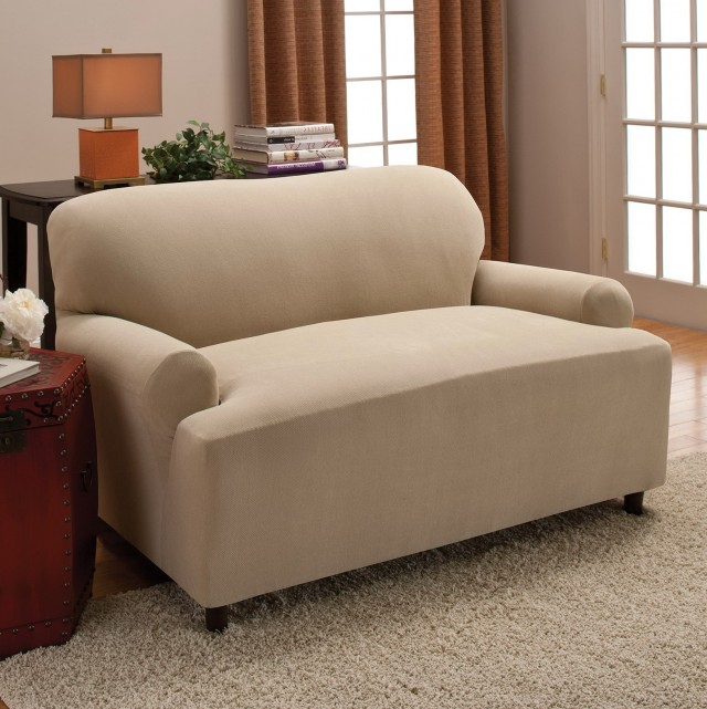 T Cushion Sofa Slipcover 2 Piece