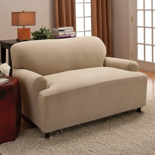 T Cushion Sofa Slipcover 2 Piece