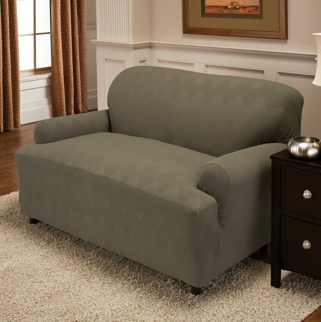 T Cushion Sofa Slipcover 3 Piece