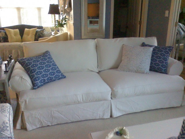 T Cushion Sofa Slipcovers Pottery Barn