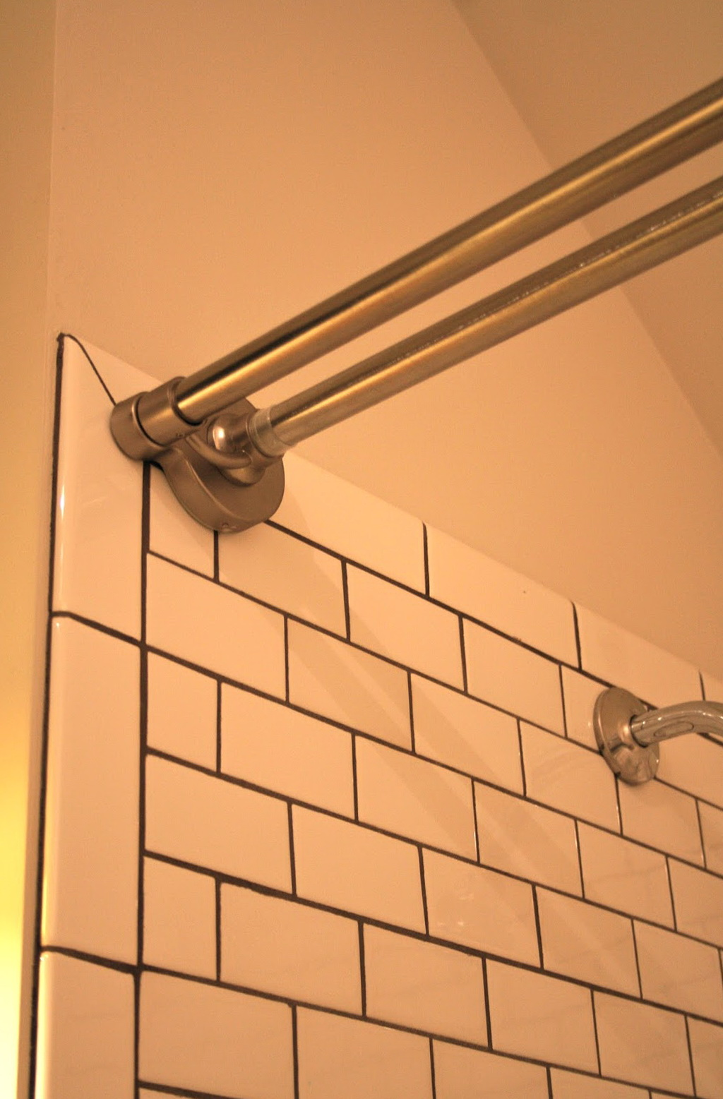 Tension Shower Curtain Rod For Tile Home Design Ideas
