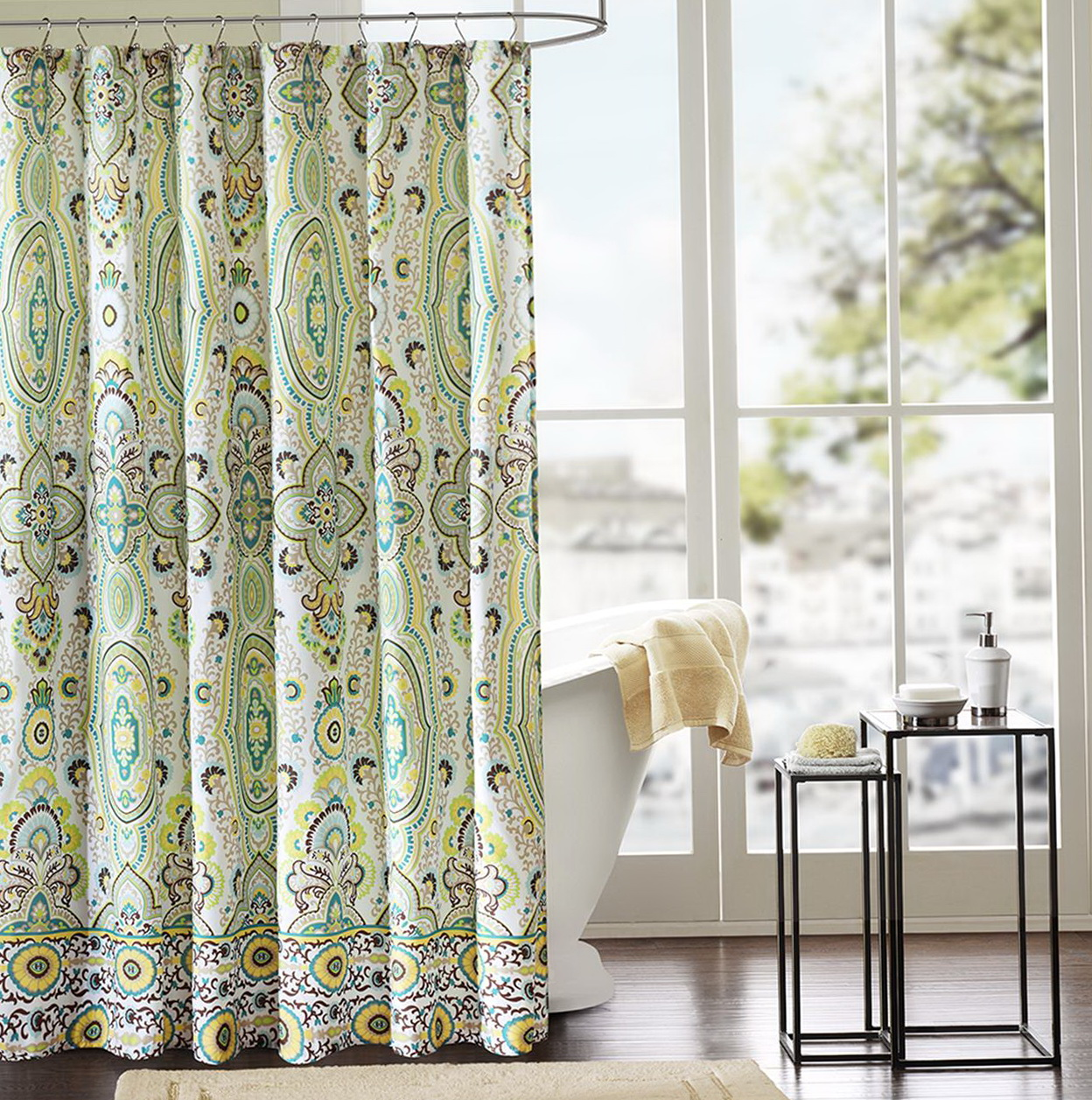 Unique fabric shower curtains home design ideas for Weird shower curtains
