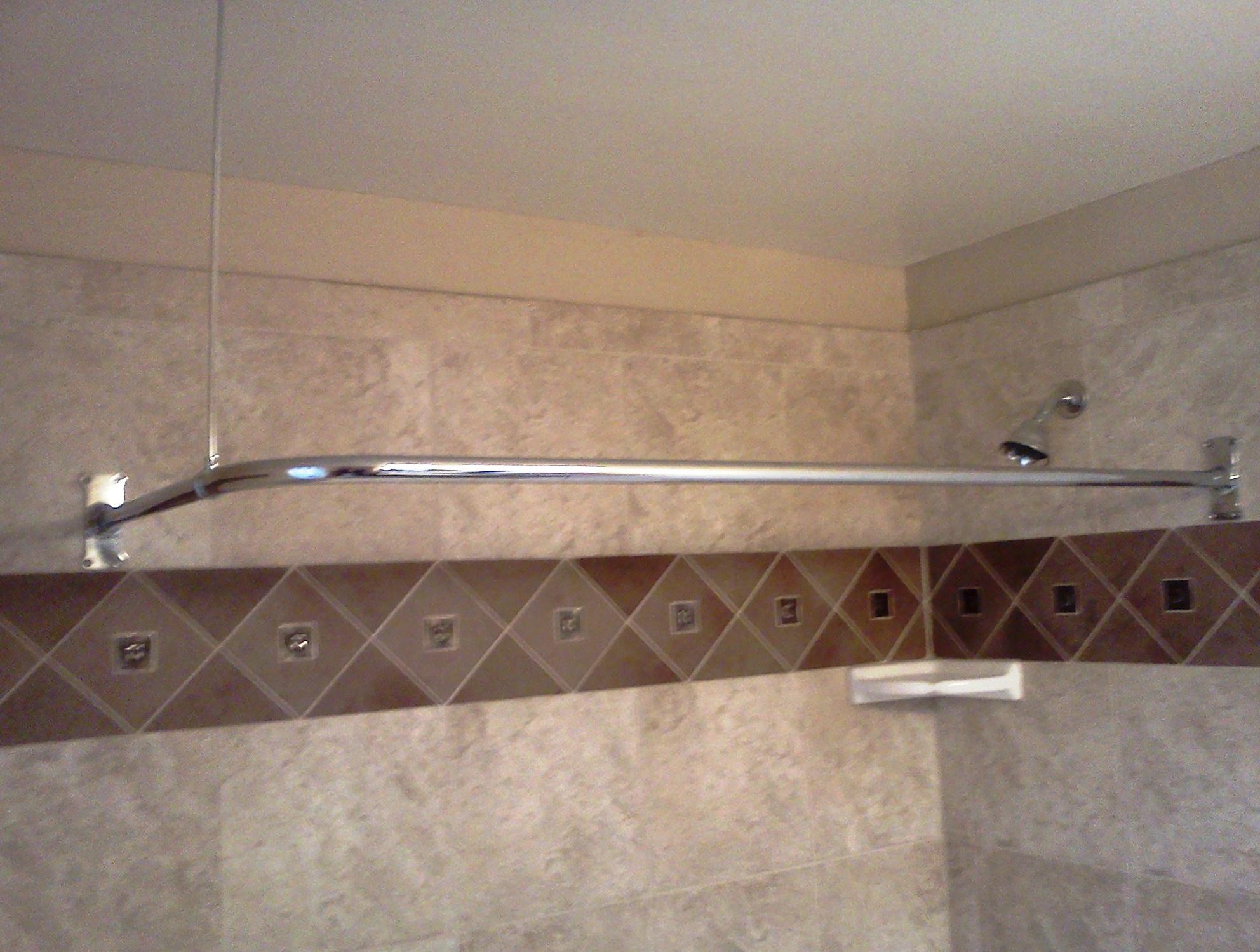 Unique Shower Curtain Rods Home Design Ideas
