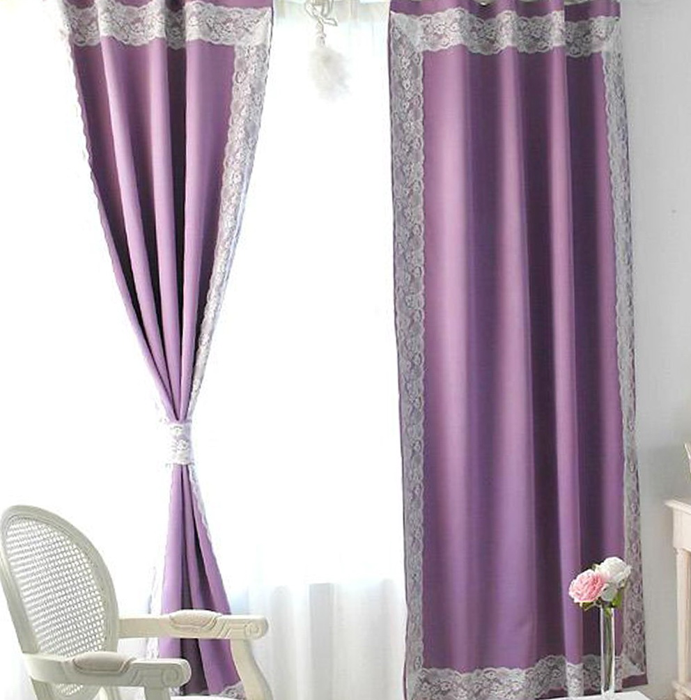 White And Purple Blackout Curtains Home Design Ideas