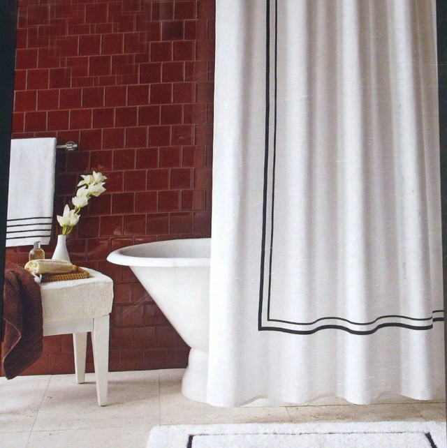White Cotton Shower Curtain Target