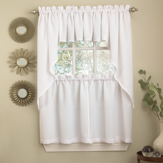 White Kitchen Curtains Valances