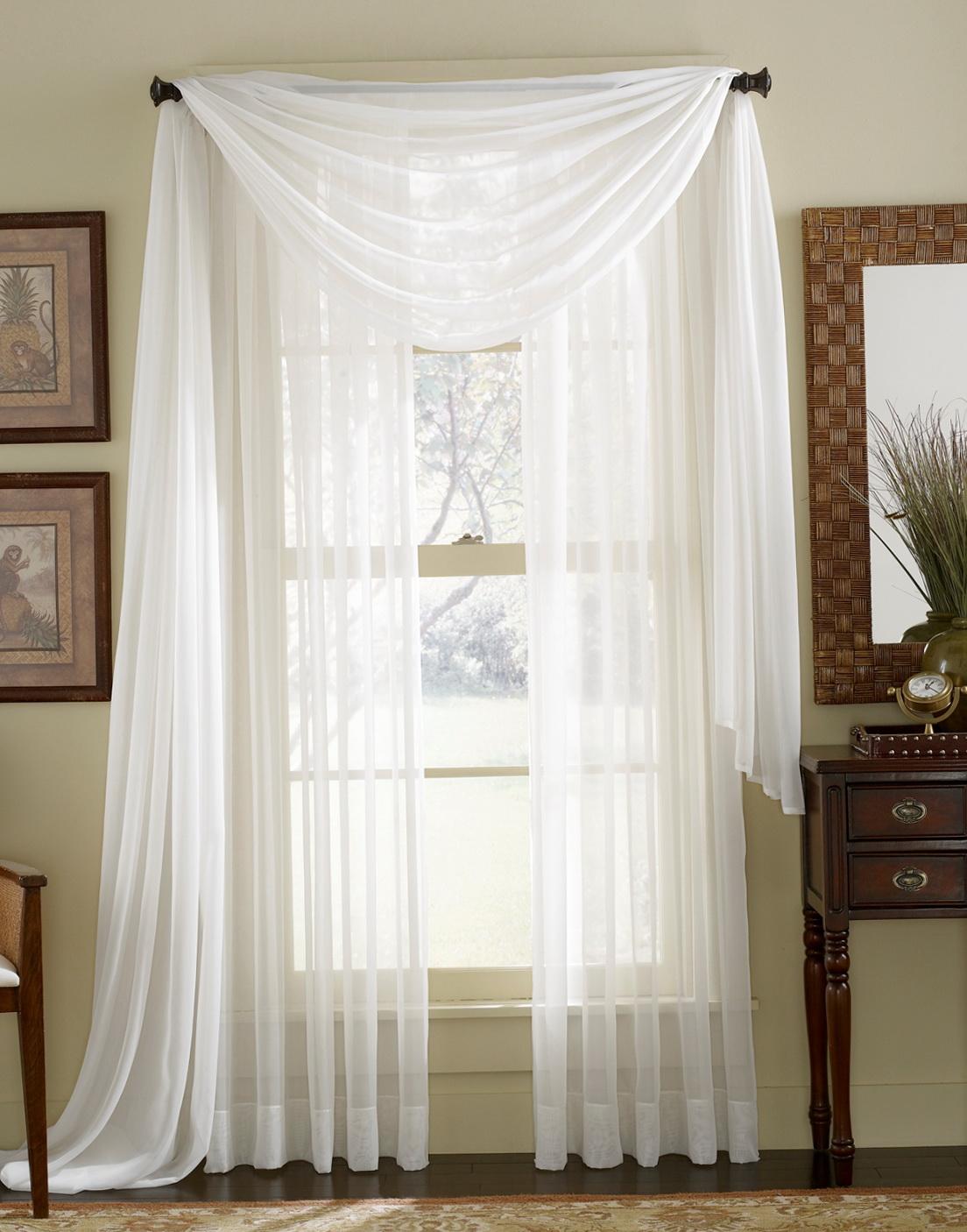 White Sheer Kitchen Curtains Home Design Ideas