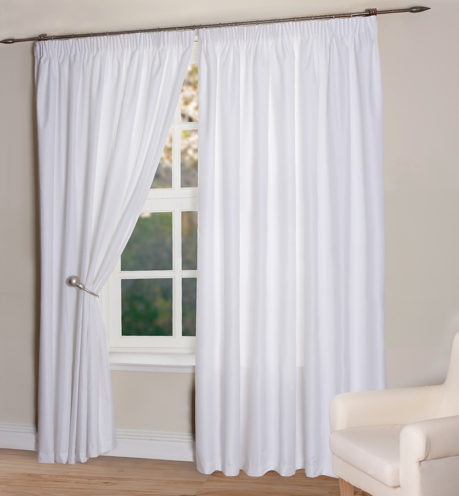 White Thermal Curtains Uk