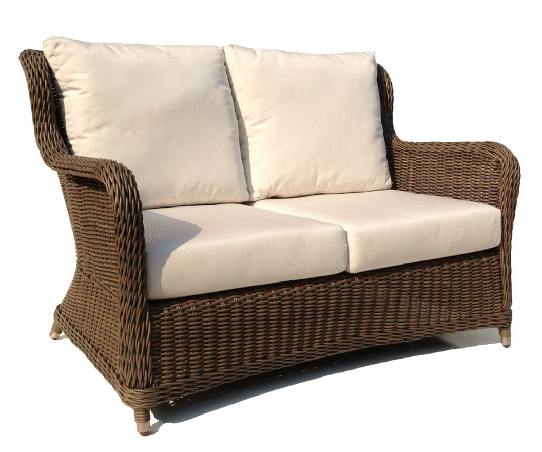 Wicker loveseat cushions outdoor home design ideas Loveseat cushions for outdoor furniture