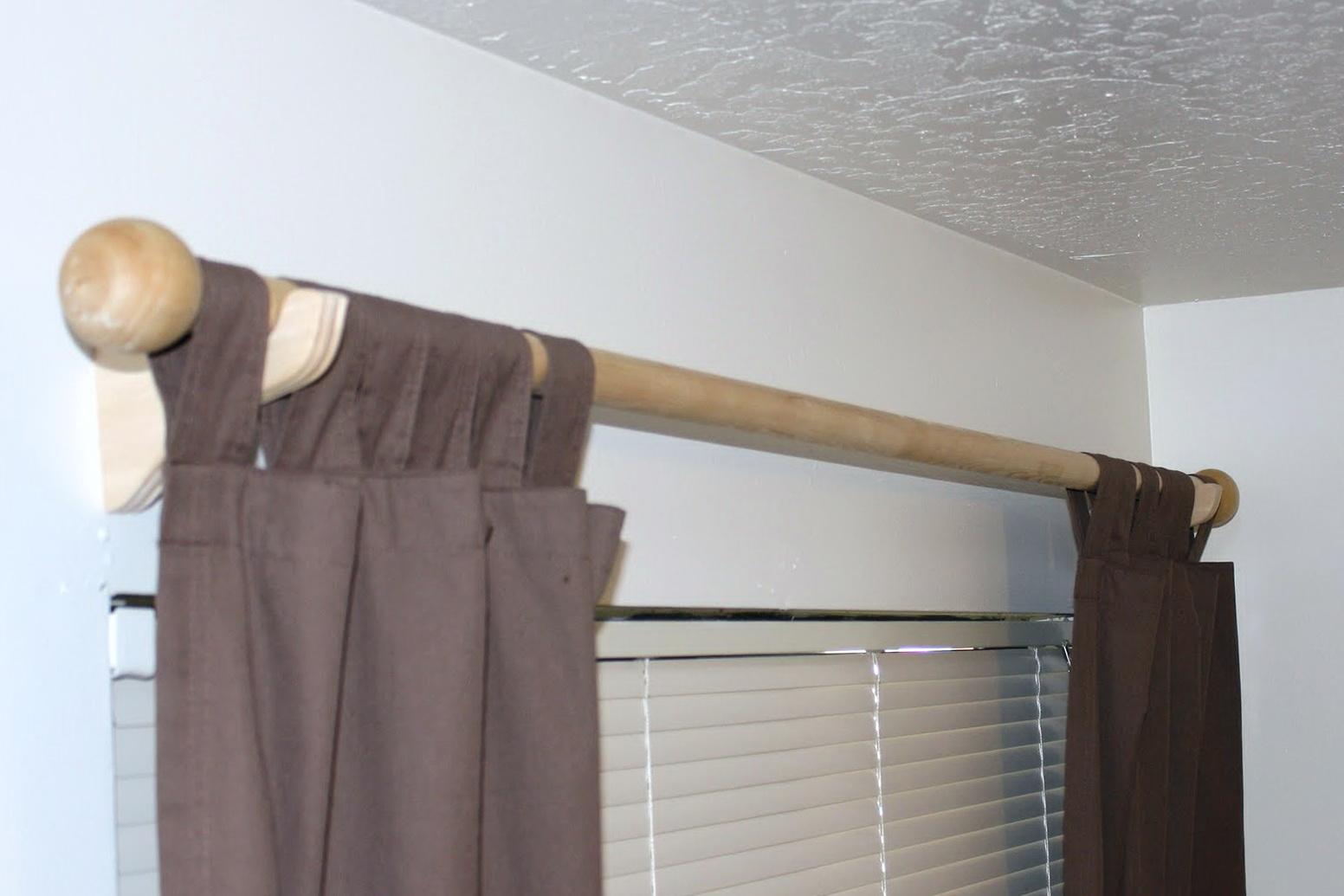 Wooden Curtain Rod Brackets Home Depot