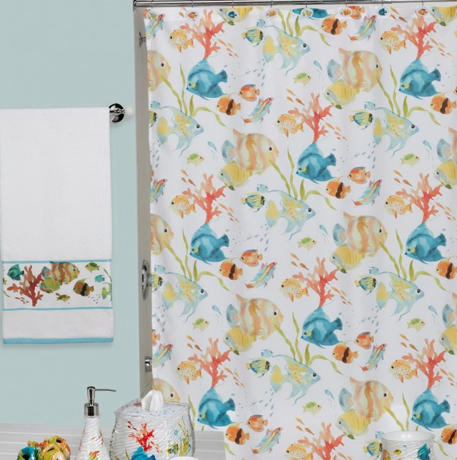 World Map Shower Curtain Fabric