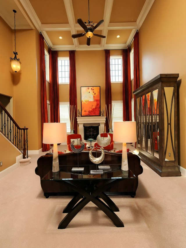 2 Story Family Room Curtains