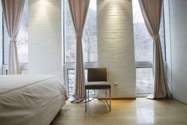 3 Window Bedroom Curtains