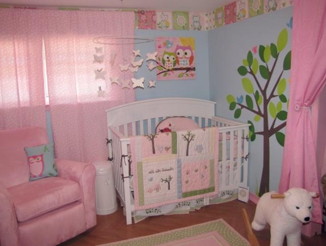 Baby Girl Owl Curtains