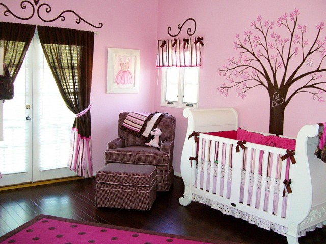 Baby Pink Curtains For Nursery
